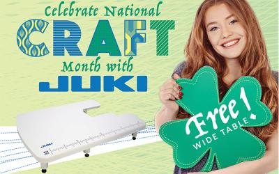 Celebrate National Craft Month with JUKI